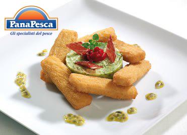 RICETTE PANAPESCA: bastoncini di merluzzo con crema di avocado